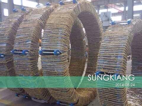 上海静福减震器制造有限公司为响水电厂配套DN2200橡胶膨胀节产品。